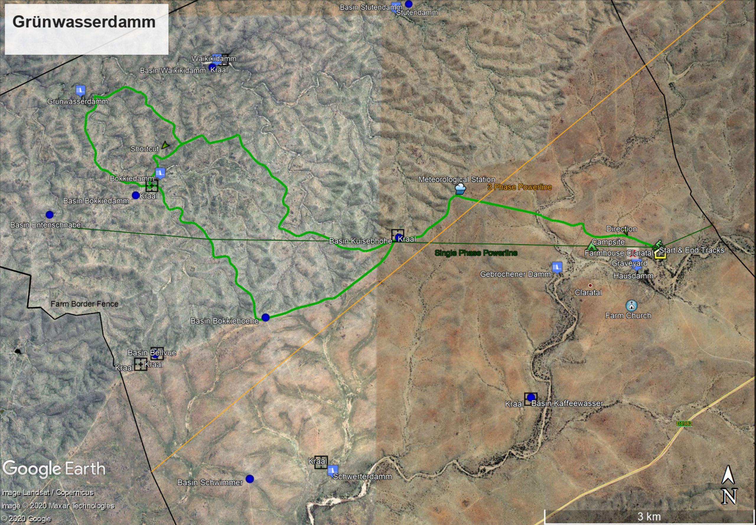 Map Grünwasserdamm Trail