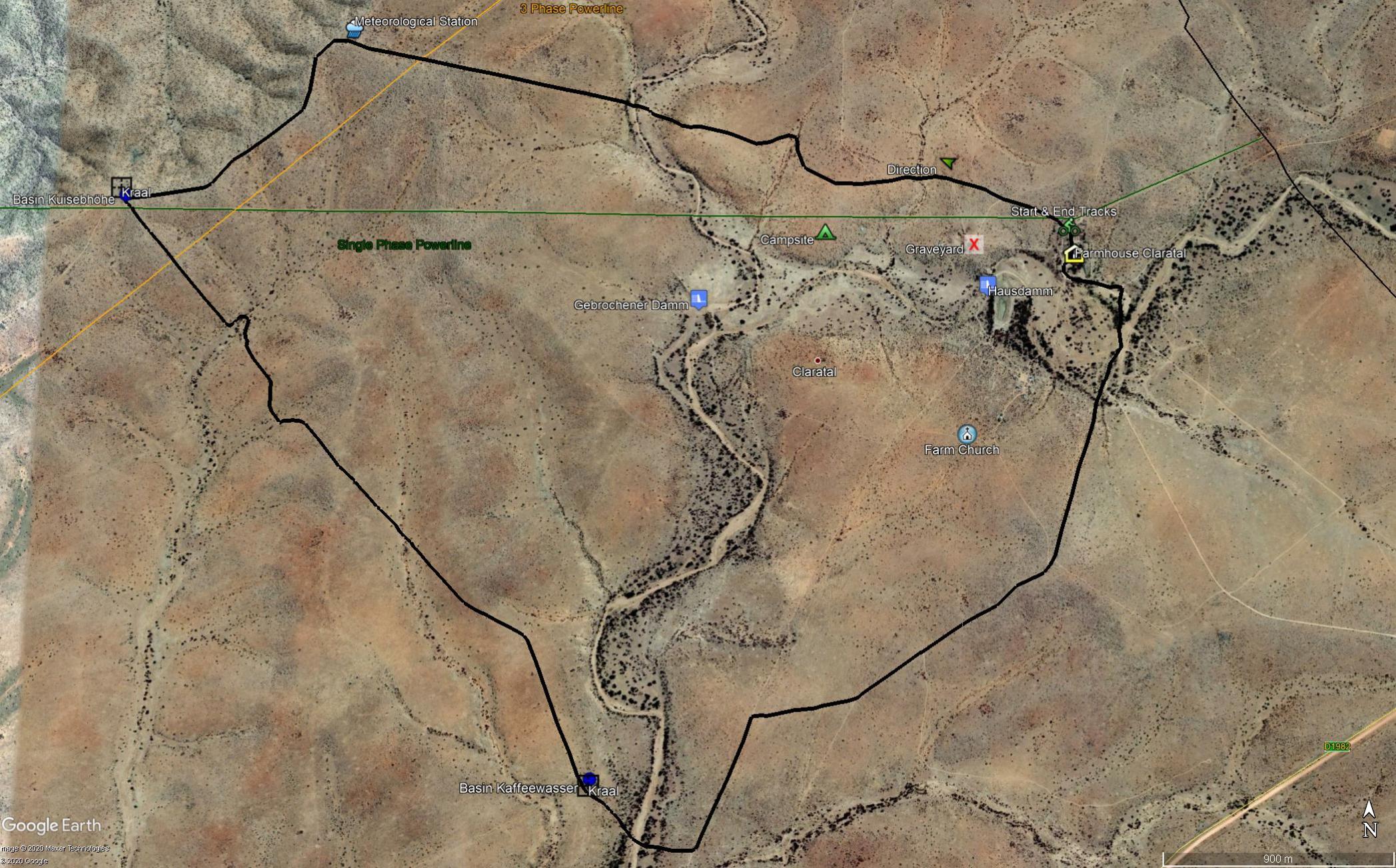 Map Trail Kaffewasser
