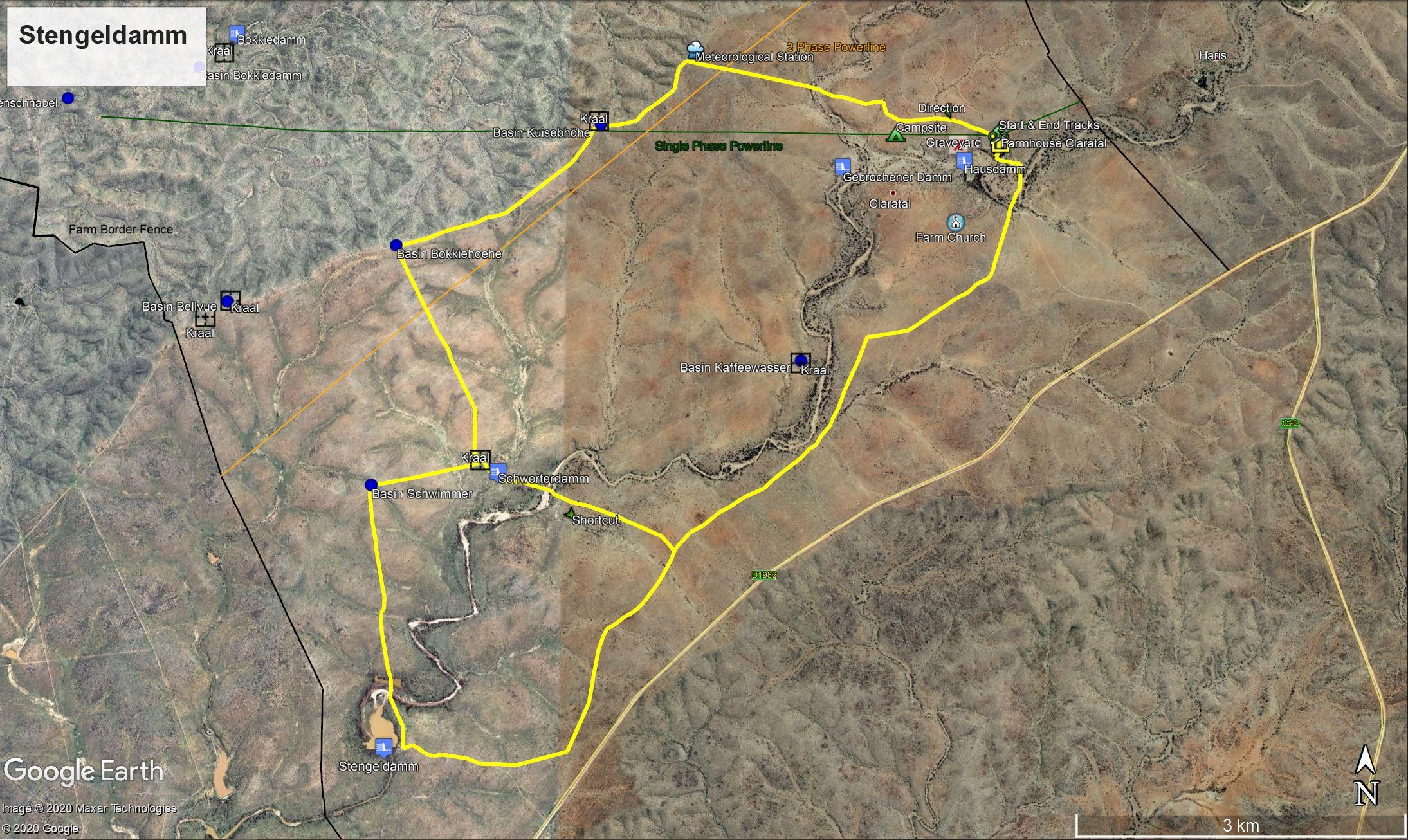 Map Stengeldamm Trail