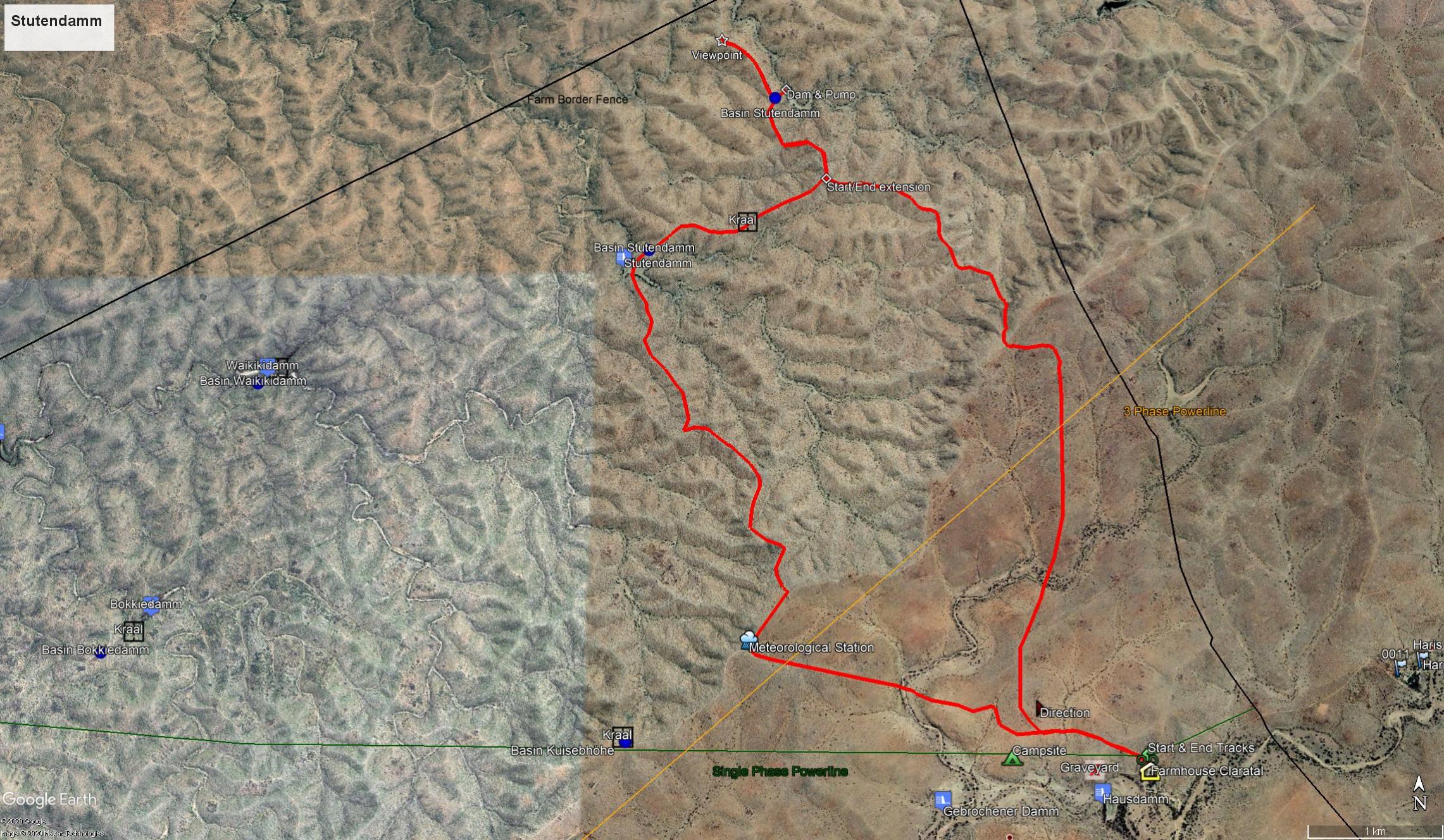 Map Stutendamm Trail